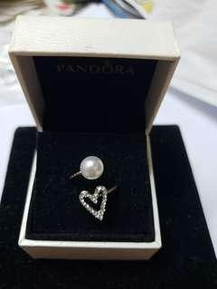 925 Silver diamond heart rings 心型手戒 no box