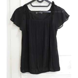 Black Blouse Top By LEIVIN