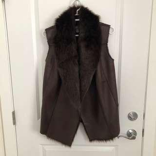 Dark Brown Cozy Vest (Medium)