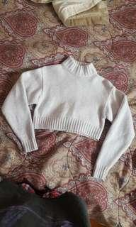 Wilfred Free Mock Neck Crop Sweater