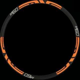 Rim Stickers M60 enve (neon orange)
