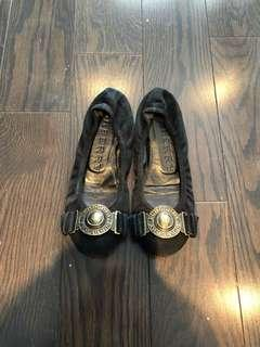 Burberry black flats shoes - size 35