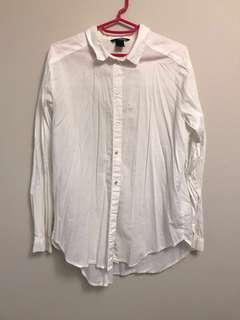 H&M white button down shirt size small to medium