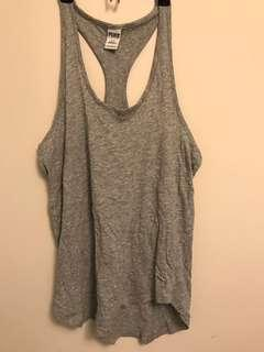 Pink grey tank top size s oversized