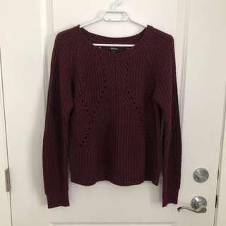 Burgundy Sweater (Small)