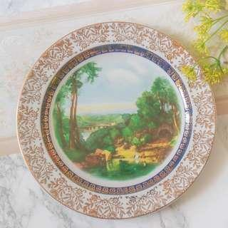 Wood & Sons Village Scenery Plates Set of 4