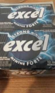 BRAND-NEW, UNOPENED EXCEL STRONG MINT SUGAR-FREE GUM 12 PACKS