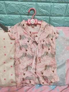 新生兒0-6M 春夏短袖長袖包手女寶蝴蝶衣包屁衣連身衣