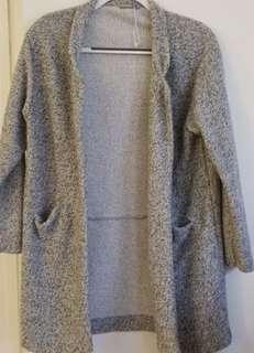 Zara Grey Sweater Coat