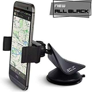 A212 - Car Phone Holder by ROC-LOC   Universal Smartphone Mount   Windshield Dashboard   Single Hand Operation, 360 Rotation Grip for all Latest Mobile