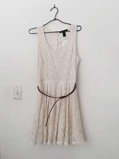 REDUCED* NWT | F21 Lace Dress with Belt