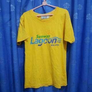 Baju Kaus Kaos Atasan Anak Perempuan Kuning Sunway Lagoon Malaysia Katun Bekas Second Preloved Murah