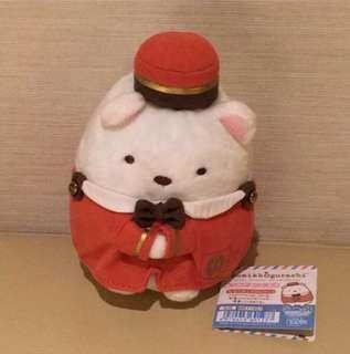 Japan Tokyo Sumikko Gurashi 角落生物 白熊 旅行系列 酒店 服務員 中size 公仔