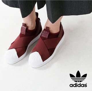[Price reduced] Adidas Slip On in Red Night (burgundy)
