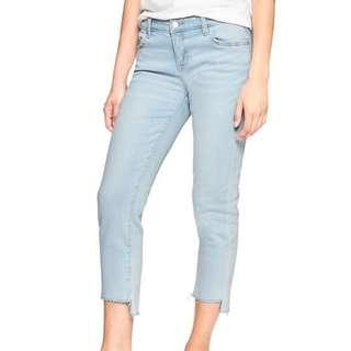 [Price reduced] New straight crop 3/4 light blue jean