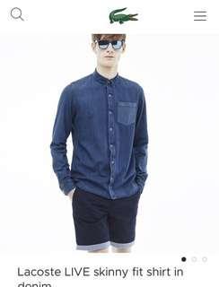 Lacoste Slim fit Demin button up shirt