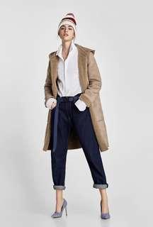 Zara Reversible Contrasting Coat XS