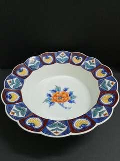Japanese handpainted peony porcelain bowl