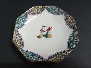 Little boy porcelain decor plate