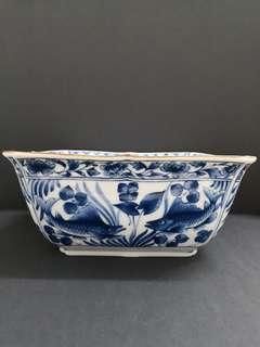 Japanese fish motive bowl