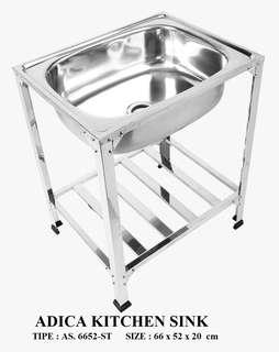 Stainless steel kitchen sink type as.6652-st