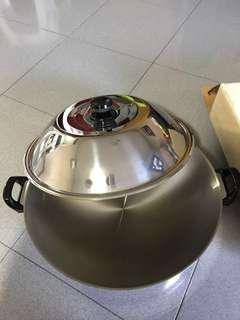 """🚚 42"""" stainless steel wok with cover"""