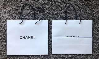 Chanel beauty paper shopping bags