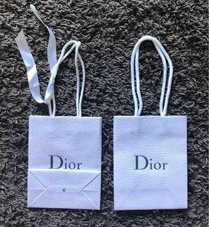Dior paper shopping bag