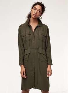 Aritzia Howitt Dress in Olive Size 1 XS/S