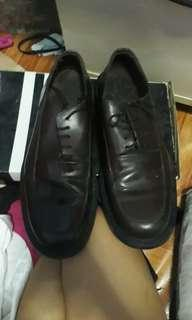 Mendrez Brown Genuine Leather Shoes