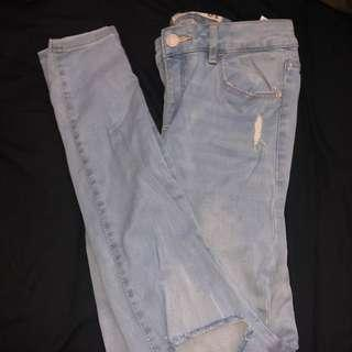 Garage high waisted ripped jeans