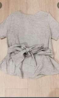 Kimono top light grey