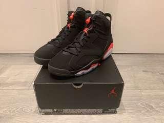 Nike Air Jordan 6 Infrared Size Us 9.5 off white supreme