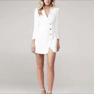 Bardot Blazer Dress White