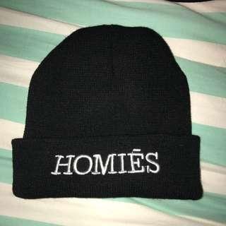 Black 'Homiēs' Beanie