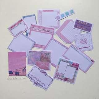 pink sticker set