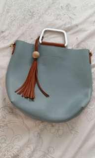 Blue Miniso bag