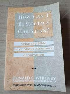 🚚 Book for sale - How can I be sure I'm a Christian?