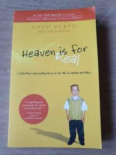 🚚 Book for sale - Heaven is for Real