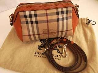 SOLD - BURBERRY Haymarket Mini Crossbody