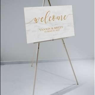Marble Theme Wedding Signs