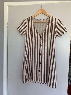 ZARA Striped Dress M