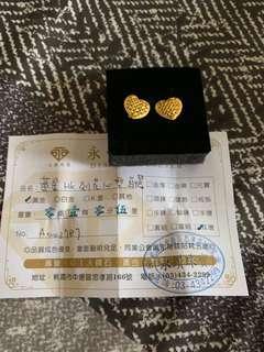 純金黃金耳環