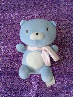 Miniso Blue Plush Stuffed Toy