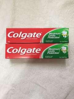 Colgate toothpaste $25 for two 高露潔牙膏 $25元 兩支