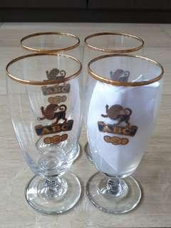 🚚 Vintage ABC Glass Cups for sale
