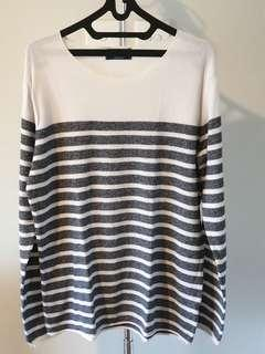 Pull&Bear Long  Stripe Outer Size M Good condition