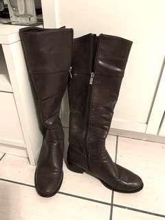 🚚 a Lady 靴子 長靴 漆皮 咖啡 37