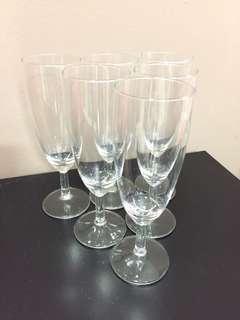 Champagne flute wine glass
