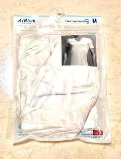 AIRism V Neck T-Shirt Short Sleeve Men Size M